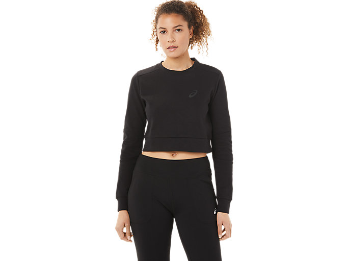 Alternative image view of TAILORED CROPPED CREW, Performance Black