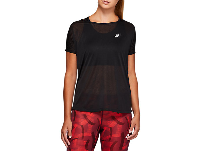 Front Top view of SPORT OS TEE BACK, PERFORMANCE BLACK