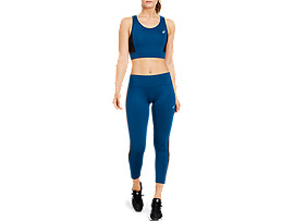 ASICS Color Block Bra Mako Blue / Performance Black Mujer Talla M