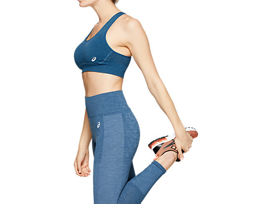 W SEAMLESS FLEX BRA MAKO BLUE HEATHER