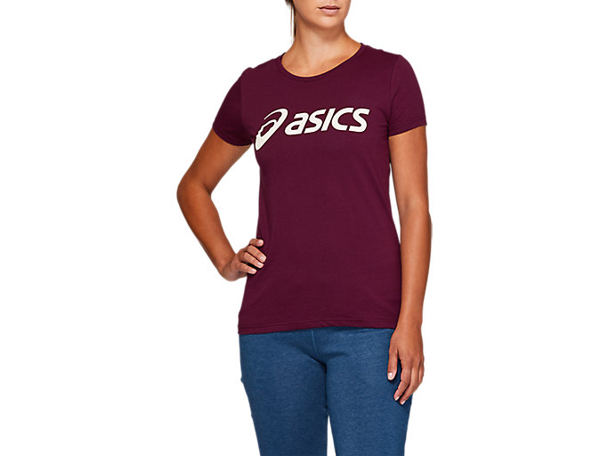 Alternative image view of SPORT LOGO TEE, ROSELLE / birch