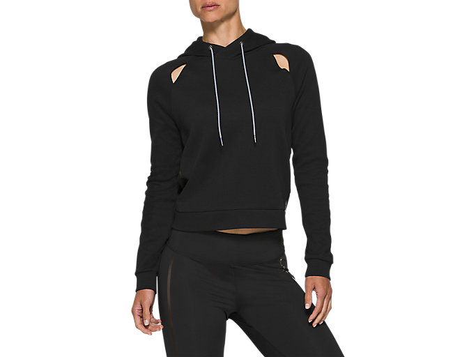 Alternative image view of W NS PIPED DREAM HOODY, PERFORMANCE BLACK
