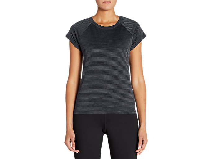 Front Top view of Short Sleeve Linear Training Top