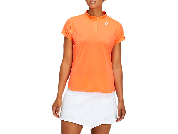 Alternative image view of CLUB TENNIS POLO-SHIRT, FLASH CORAL