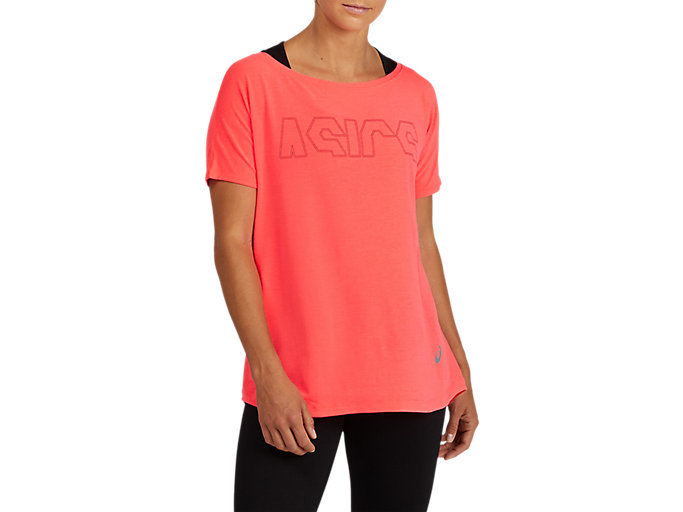 Alternative image view of SPORT PRINT OUTLINE TEE, Diva Pink/Performance Color