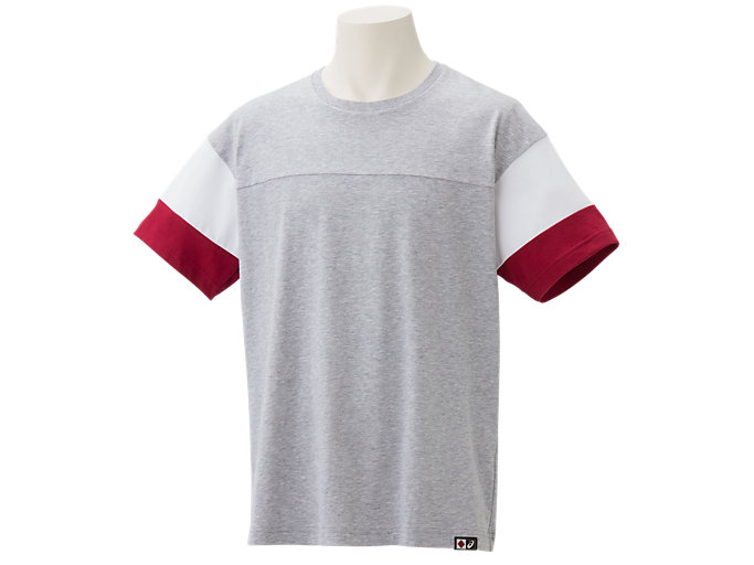 Front Top view of Tシャツ, Wグレー杢