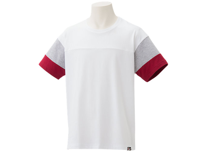Front Top view of Tシャツ, Wホワイト