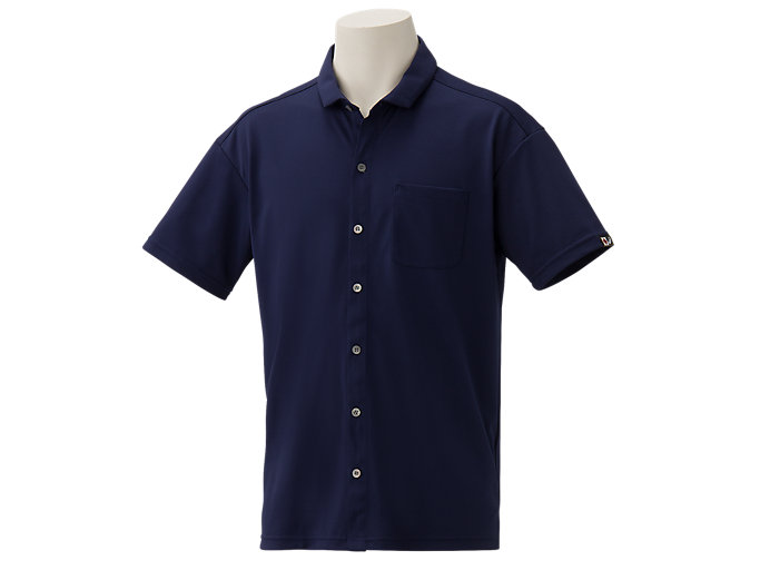 Front Top view of オープンシャツ, Wネイビー