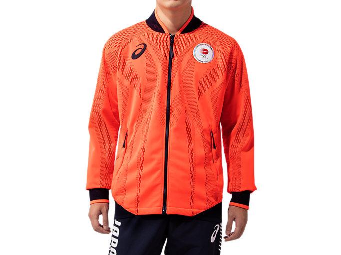 Alternative image view of Podium Jacket(JOC EMBLEM)オリンピック日本代表選手団エンブレム, Sunrise Red