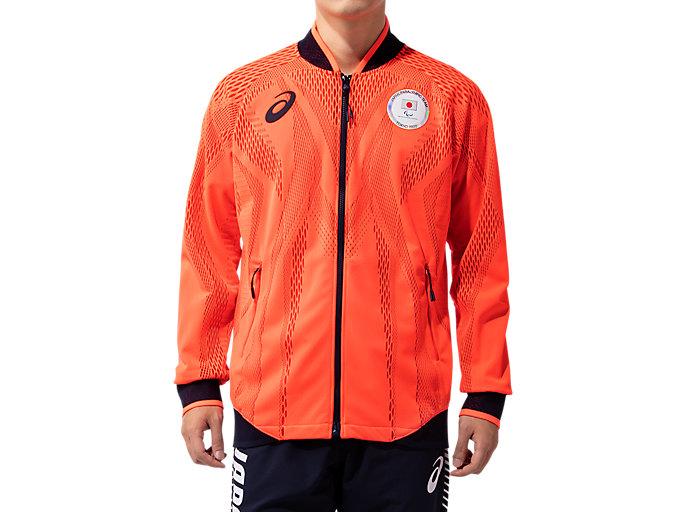 Alternative image view of Podium Jacket(JPC EMBLEM)パラリンピック日本代表選手団エンブレム, Sunrise Red