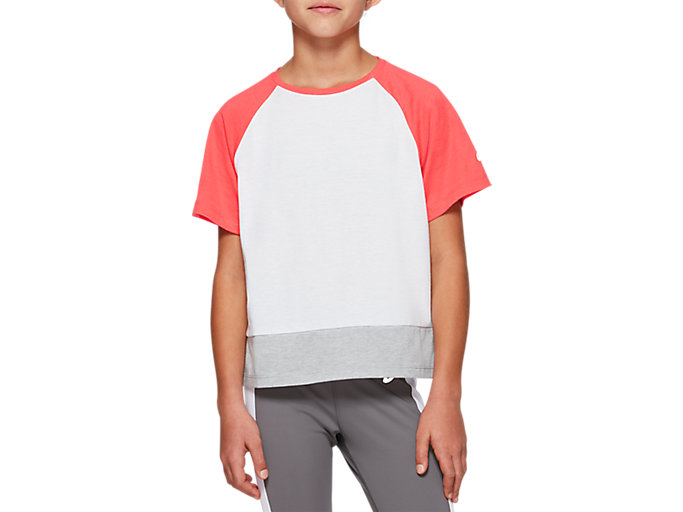 Alternative image view of G COLOR BLOCK SS T, BRILLIANT WHITE/LASER PINK