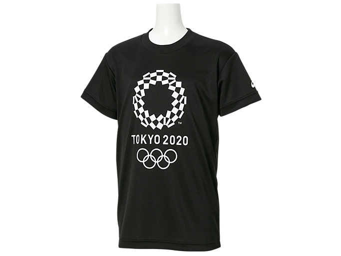 Front Top view of Tシャツ Kids(東京2020オリンピックエンブレム), ブラック