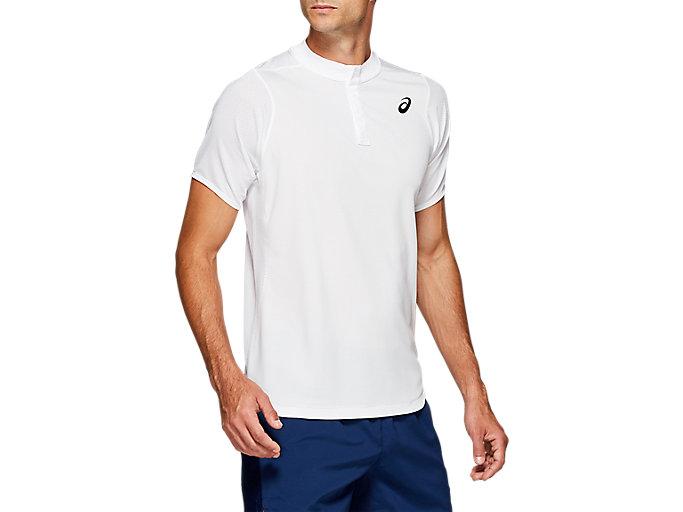 Men's GEL-Cool Polo Shirt   Brilliant White   Short Sleeve Shirts ...