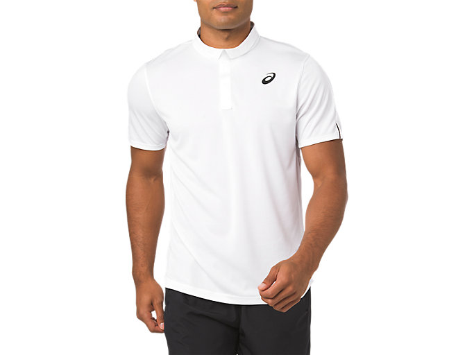 Front Top view of CLUB POLO-SHIRT, BRILLIANT WHITE