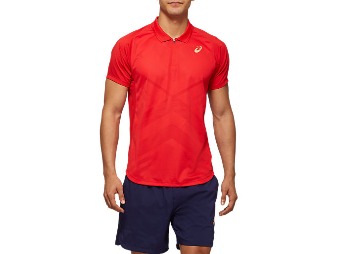 Alternative image view of TENNIS M POLO SHIRT, CLASSIC RED