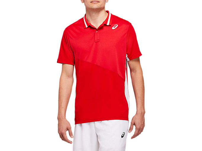 Alternative image view of CLUB M POLO SHIRT, CLASSIC RED