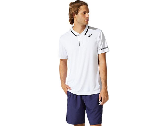 Men's COURT M POLO SHIRT | BRILLIANT WHITE | Short Sleeve Shirts ...