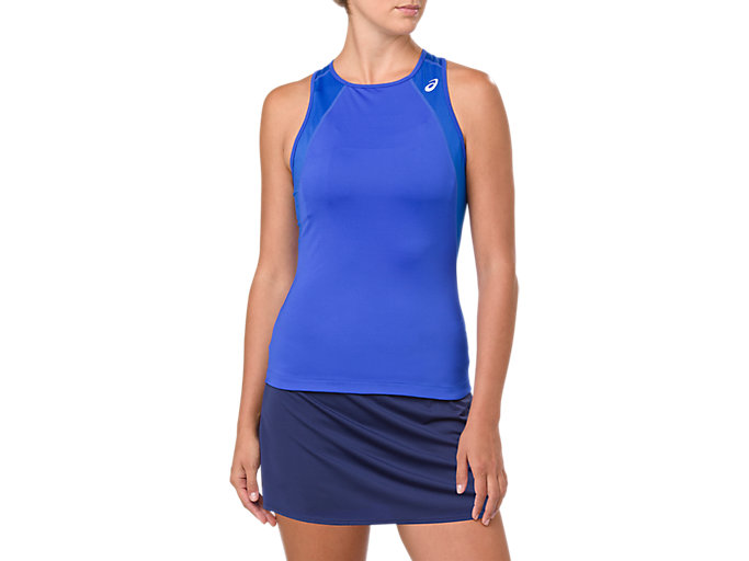 Front Top view of GEL-COOL TANK TOP, ILLUSION BLUE
