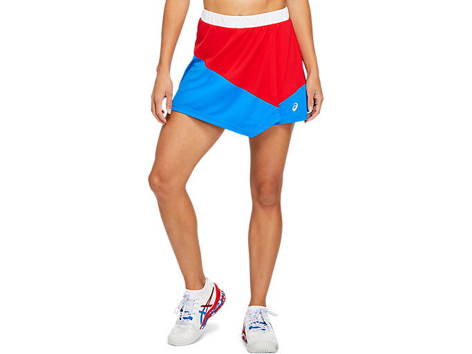 Alternative image view of CLUB W SKORT, ELECTRIC BLUE/CLASSIC RED
