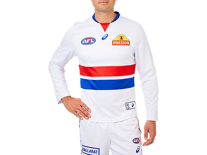 Alternative image view of WESTERN BULLDOGS REPLICA CLASH GUERNSEY LONG SLEEVED