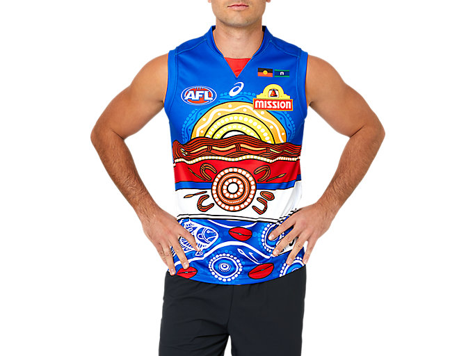 Alternative image view of WESTERN BULLDOGS INDIGENOUS REPLICA GUERNSEY