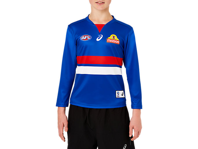Alternative image view of WESTERN BULLDOGS REPLICA HOME GUERNSEY LONG SLEEVED YOUTH