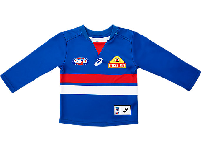 Alternative image view of WESTERN BULLDOGS REPLICA HOME GUERNSEY LONG SLEEVED INFANT