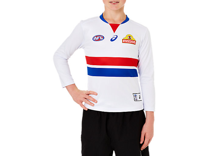 Alternative image view of WESTERN BULLDOGS REPLICA CLASH GUERNSEY LONG SLEEVED YOUTH