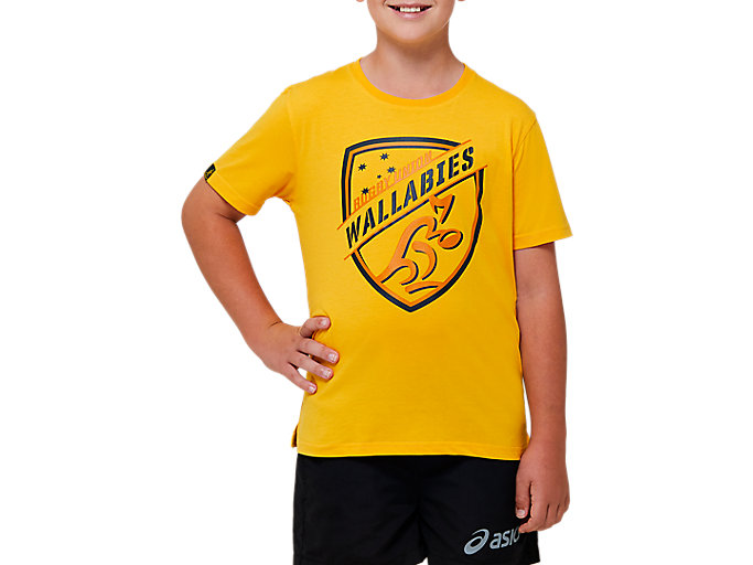 Alternative image view of WALLABIES AIR RAID TEE,  Wallabies Gold