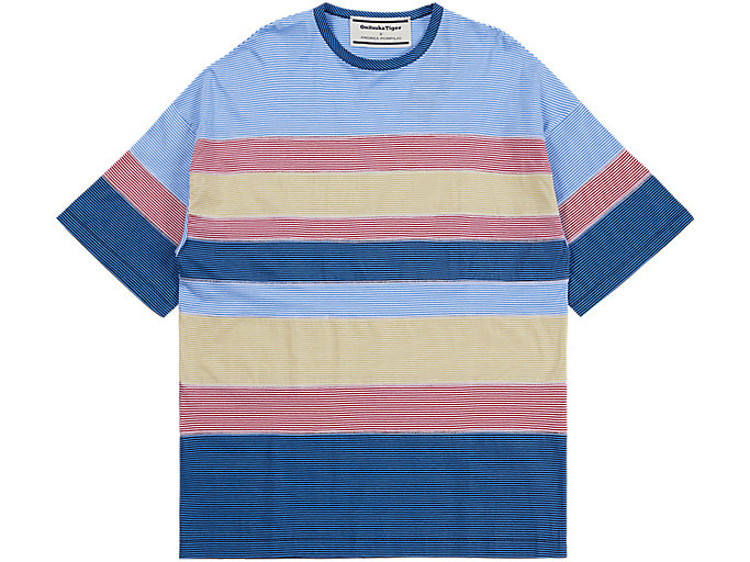 Alternative image view of STRIPED TEE, SKY/PEACOAT