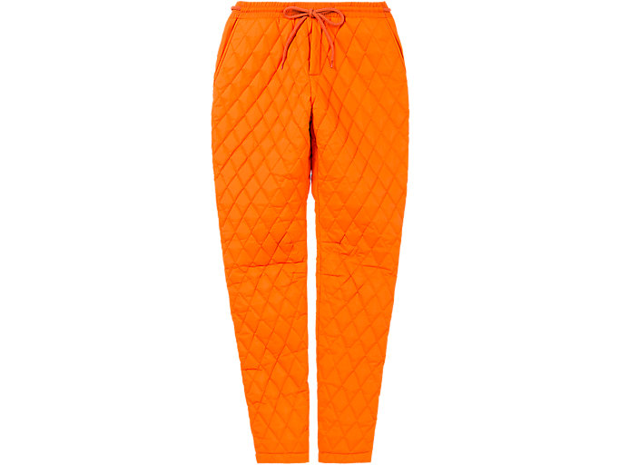 Alternative image view of QUILTED PANT, SHOCKING ORANGE