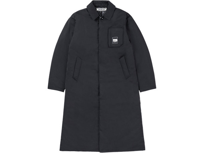Alternative image view of LONG PADDED COAT, PERFORMANCE BLACK