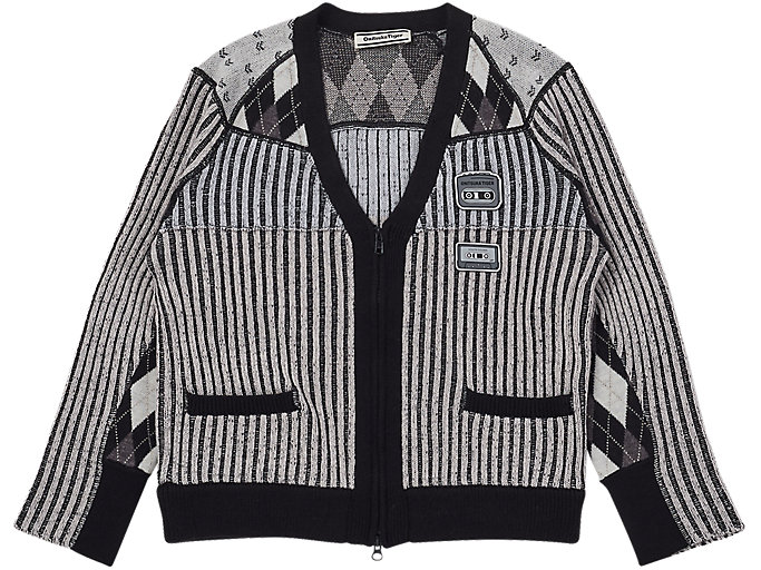 Alternative image view of WS KNIT CARDIGAN, MID GREY/PERFORMANCE BLACK