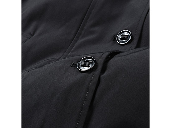 WS LONG PADDED COAT BLACK
