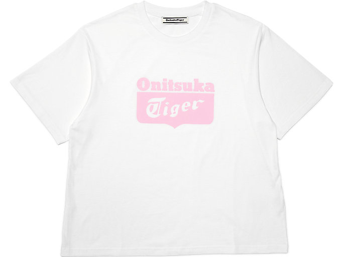 Alternative image view of T-shirt met logo voor dames, Real White/Hot Pink