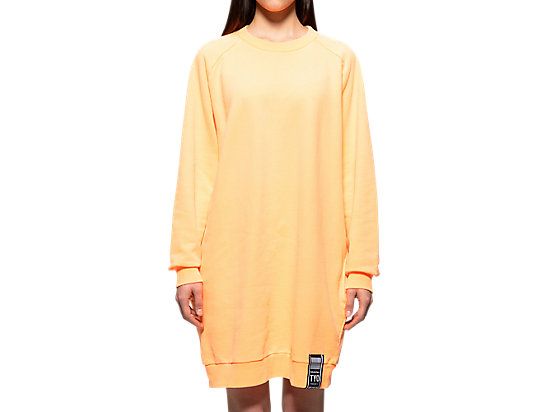 WS SWEAT DRESS NEON ORANGE