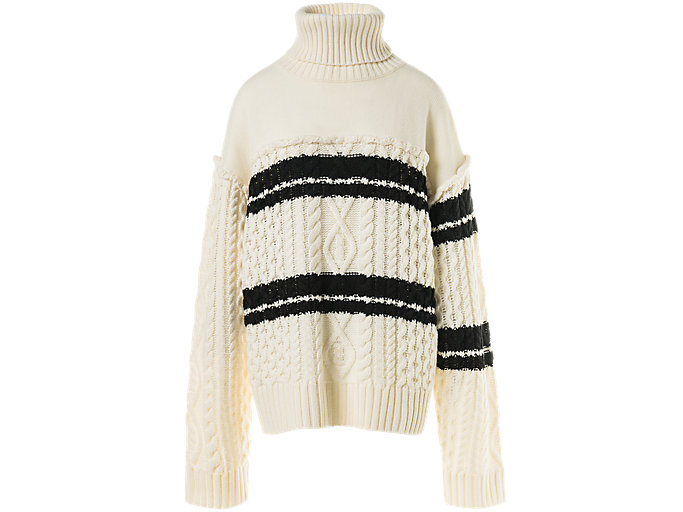 Alternative image view of WS TURTLE KNIT, Ivory/Performance Black