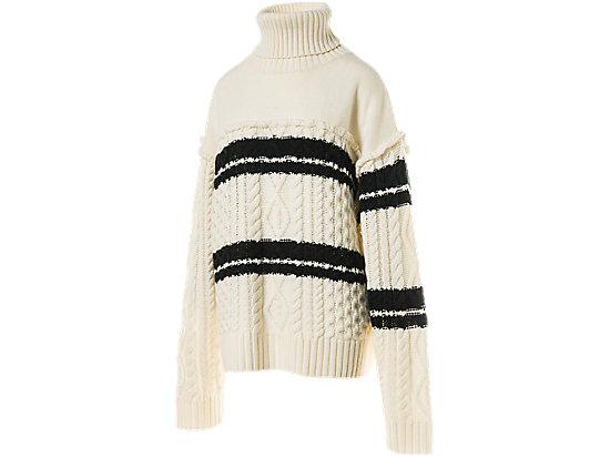 女長袖針織上衣 OFF WHITE/BLACK
