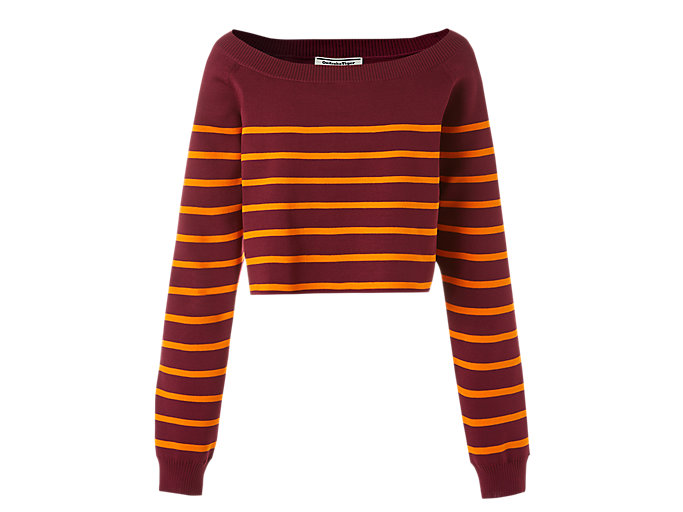 Alternative image view of WS KNIT TOP, Burgundy