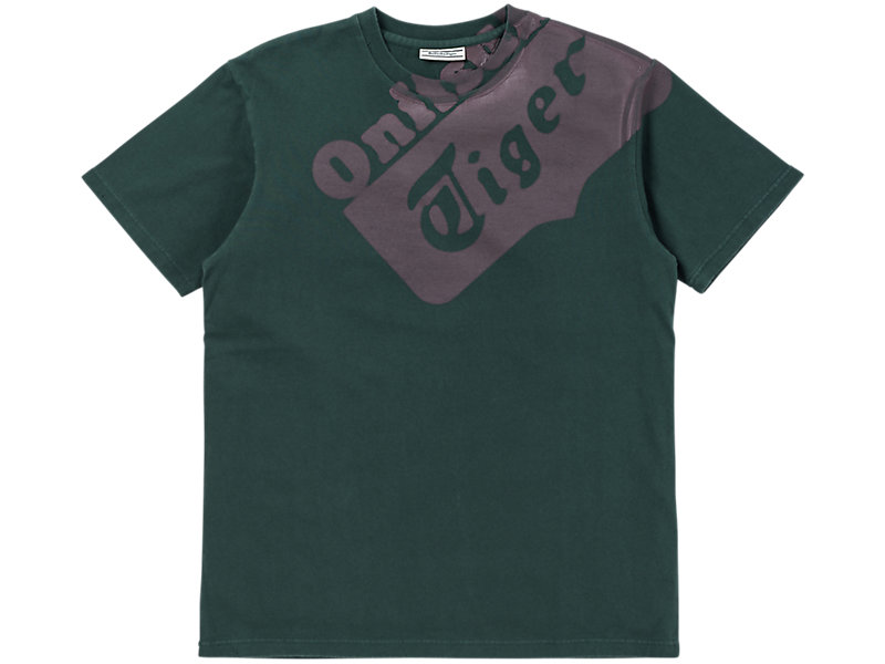 WASHED GRAPHIC T-SHIRT HUNTER GREEN/BURGUNDY 1 FT