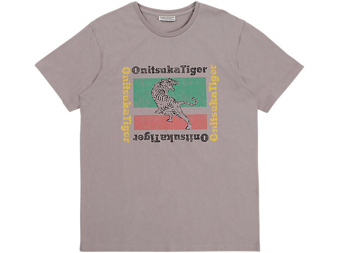Alternative image view of GRAPHIC TEE, STONE GREY