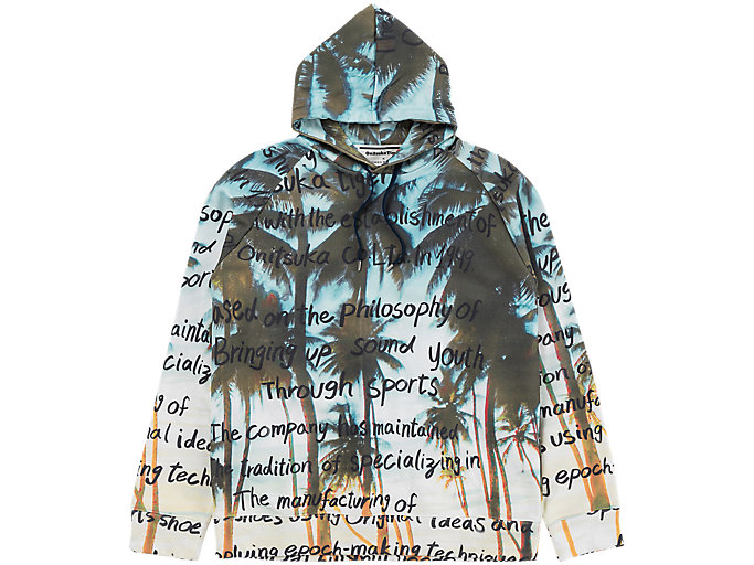Alternative image view of GRAPHIC HOODIE, PEACOAT