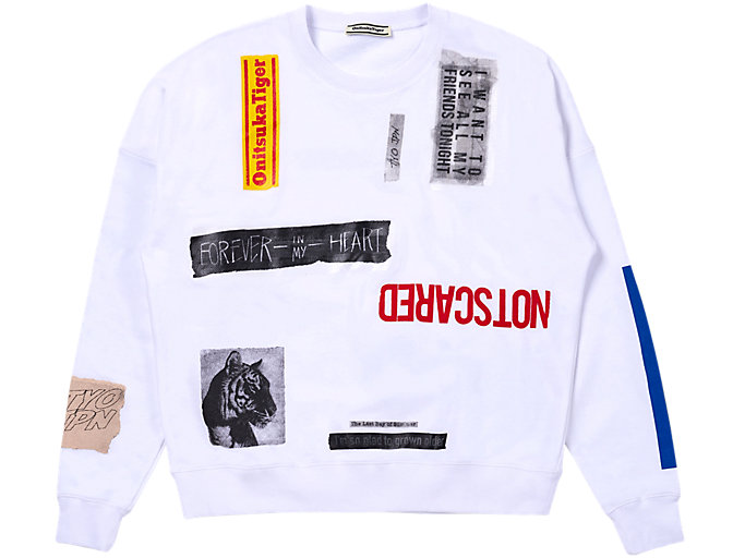 Front Top view of COLLAGE PULL-OVER