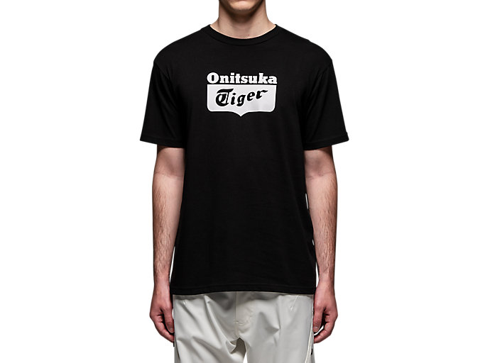Alternative image view of LOGO TEE, Performance Black/Real White