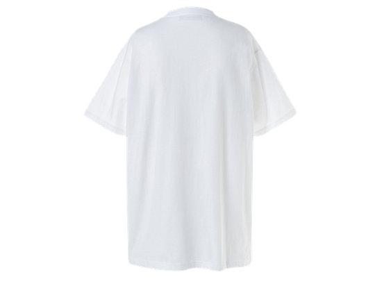 中性LOGO短袖上衣 WHITE/RED
