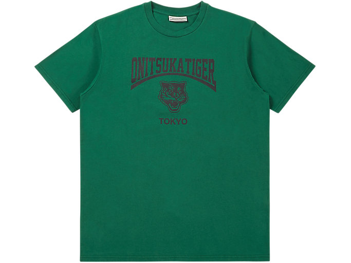 Alternative image view of WASHED GRAPHIC TEE, GREEN