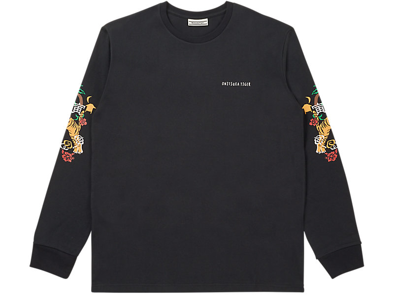 LONG SLEEVED GRAPHIC TEE BLACK 1 FT