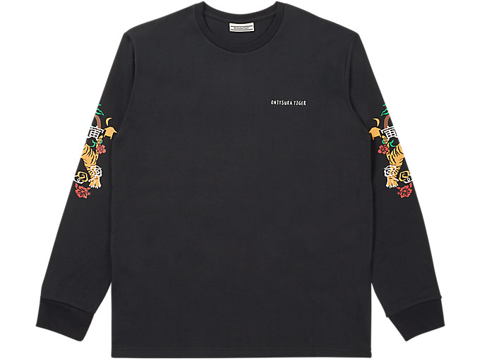 Alternative image view of LS GRAPHIC TEE, PERFORMANCE BLACK