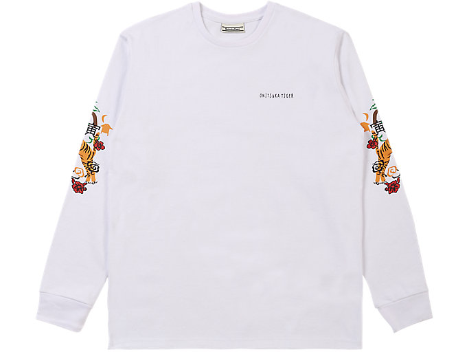 Alternative image view of LS GRAPHIC TEE, REAL WHITE