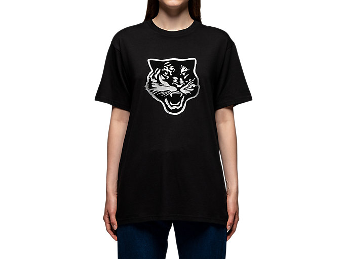 Alternative image view of T-SHIRT, PERFORMANCE BLACK/SILVER